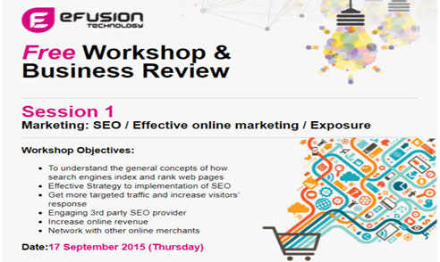 Efusion Workshop and Business review