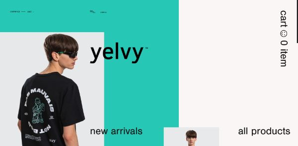 Editorial-style web design for e-commerce