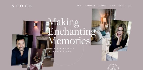 Creative website with one-page scrolling effects